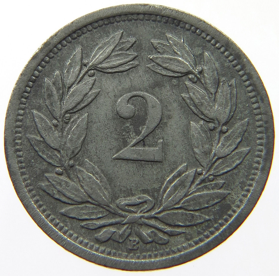 Two Centimes (Rappen) 1943: Photo Switzerland 2 Rappen 1943