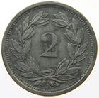 Switzerland / Two Centimes (Rappen) 1943 - reverse photo