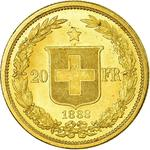 Switzerland / Twenty Francs 1883 - reverse photo