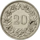 Switzerland / Twenty Centimes (Rappen) 1921 - reverse photo