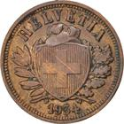 Switzerland / Two Centimes (Rappen) 1934 - obverse photo