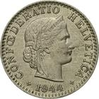 Switzerland / Twenty Centimes (Rappen) 1944 - obverse photo
