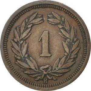 Switzerland / One Centime (Rappen) 1921 - reverse photo