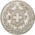 Switzerland / Five Francs 1889 - reverse photo