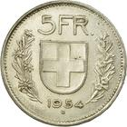 Switzerland / Five Francs 1954 - reverse photo