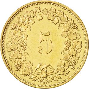 Switzerland / Five Centimes (Rappen) 2005 - reverse photo