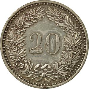 Switzerland / Twenty Centimes (Rappen) 2008 - reverse photo