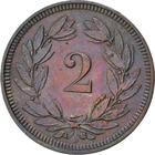 Switzerland / Two Centimes (Rappen) 1898 - reverse photo