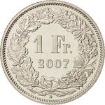 Switzerland / One Franc 2007 - reverse photo