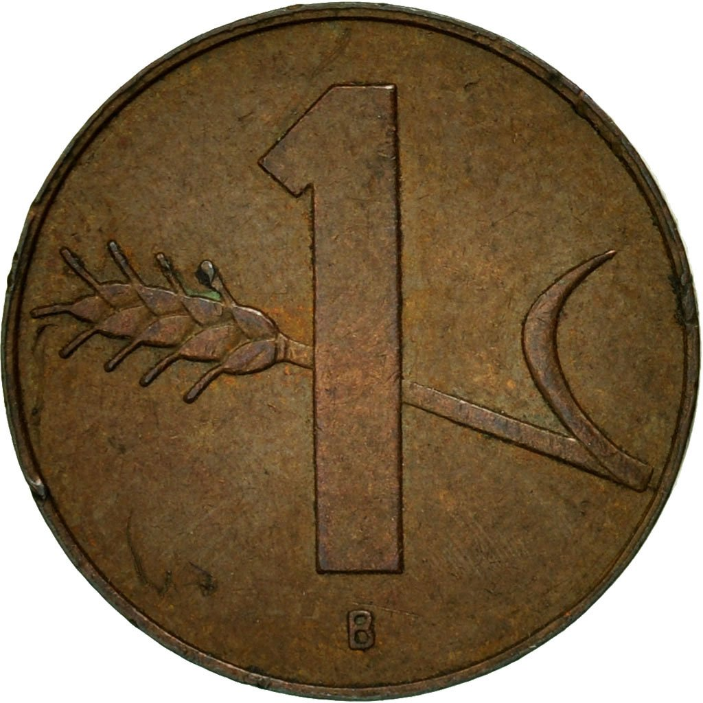 One Centime (Rappen) 1958: Photo Coin, Switzerland, Rappen 1958