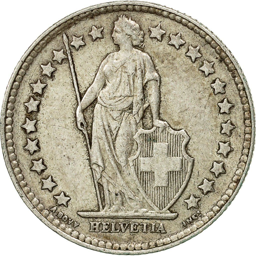 Half Franc 1952: Photo Coin, Switzerland, 1/2 Franc, 1952