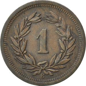 Switzerland / One Centime (Rappen) 1897 - reverse photo