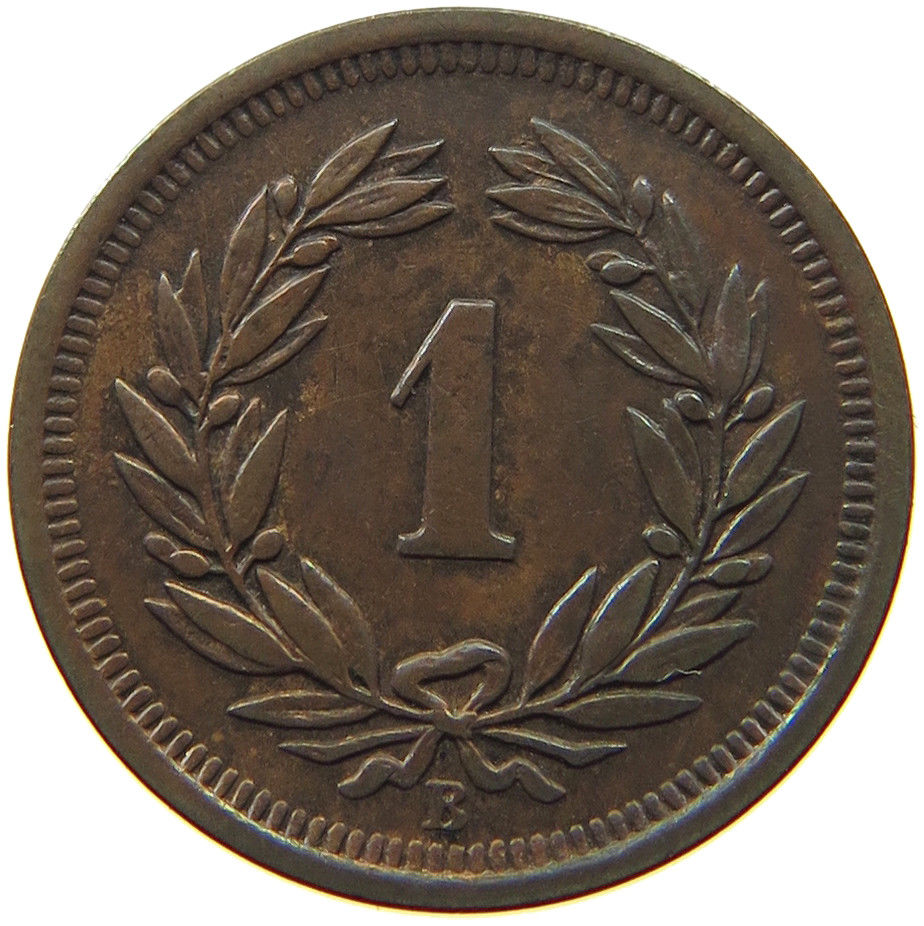 One Centime (Rappen) 1915: Photo Switzerland 1 Rappen 1915