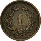 Switzerland / One Centime (Rappen) 1914 - reverse photo