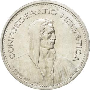 Switzerland / Five Francs 1948 - obverse photo