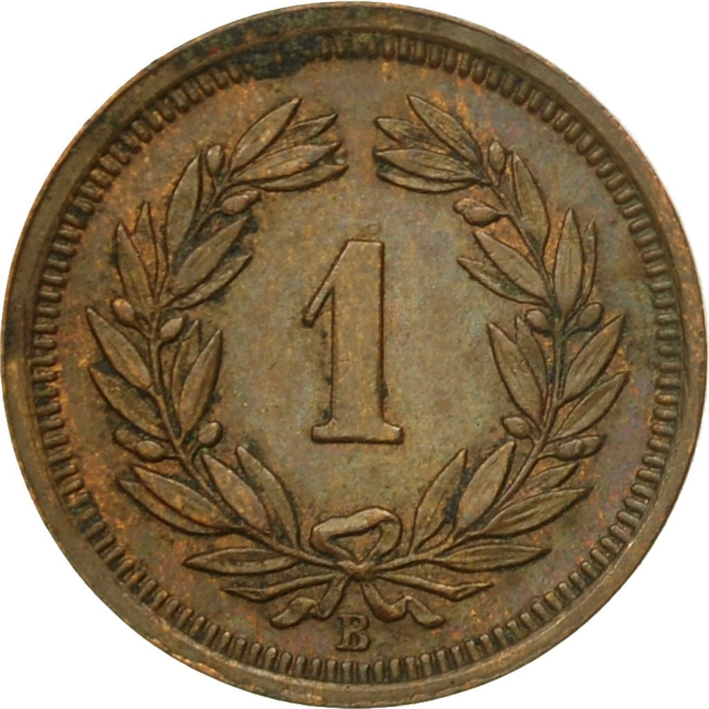 One Centime (Rappen) 1934: Photo Coin, Switzerland, Rappen 1934