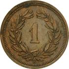 Switzerland / One Centime (Rappen) 1934 - reverse photo