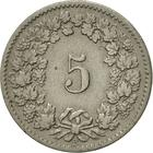 Switzerland / Five Centimes (Rappen) 1880 - reverse photo
