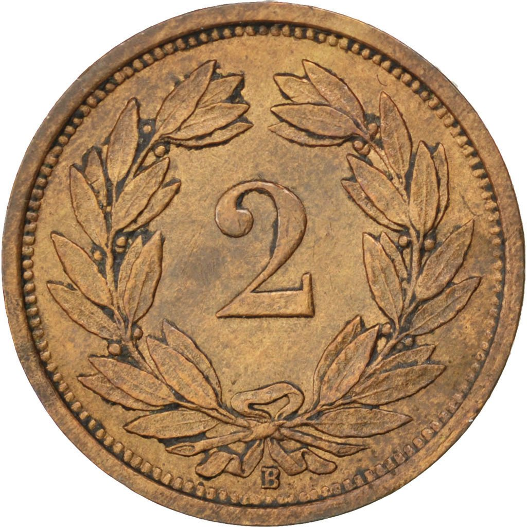 Two Centimes (Rappen) 1934: Photo Coin, Switzerland, 2 Rappen 1934