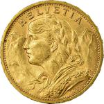Switzerland / Twenty Francs 1897 - obverse photo