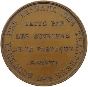 Switzerland / Medal 1848 Travail National - reverse photo