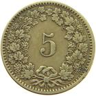 Switzerland / Five Centimes (Rappen) 1874 - reverse photo