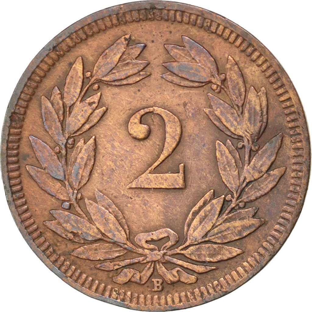 Two Centimes (Rappen) 1902: Photo Coin, Switzerland, 2 Rappen 1902
