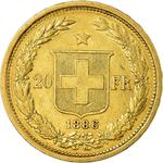 Switzerland / Twenty Francs 1886 - reverse photo
