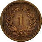 Switzerland / One Centime (Rappen) 1872 - reverse photo