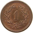 Switzerland / One Centime (Rappen) 1904 - reverse photo