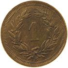 Switzerland / One Centime (Rappen) 1930 - reverse photo