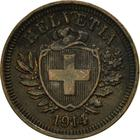 Switzerland / One Centime (Rappen) 1914 - obverse photo