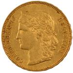 Switzerland / Twenty Francs 1892 - obverse photo