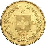 Switzerland / Twenty Francs 1888 - reverse photo