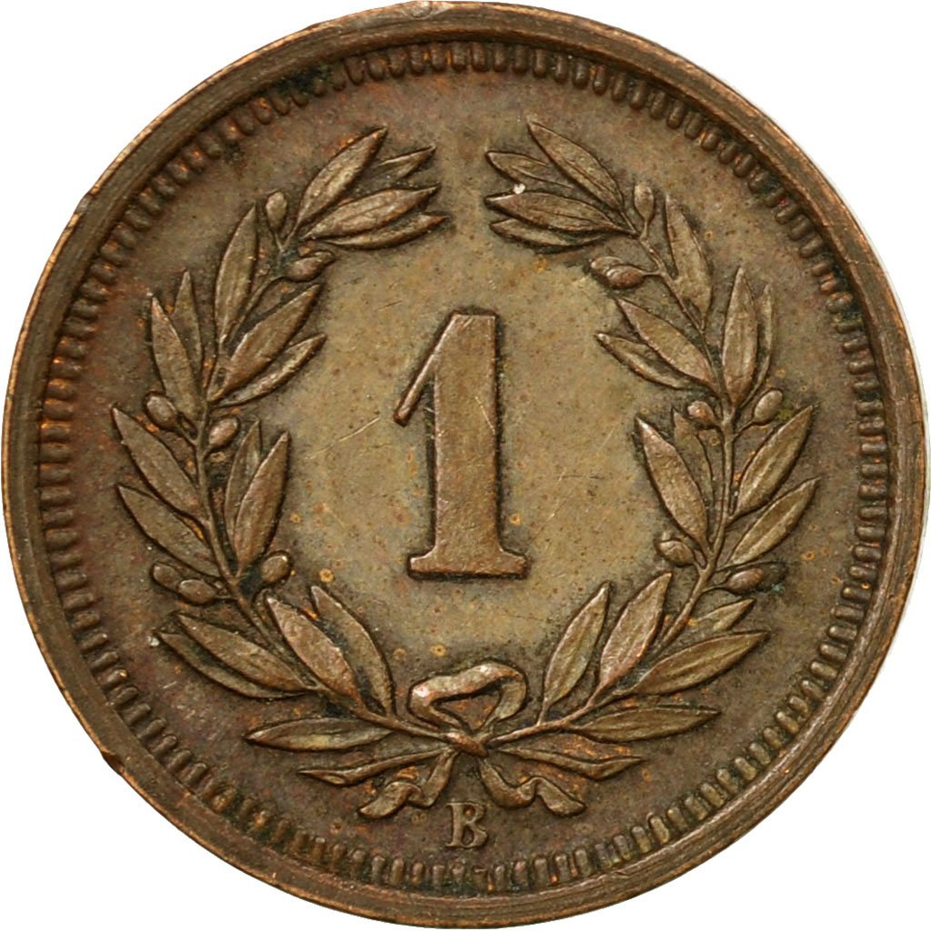 One Centime (Rappen) 1938: Photo Coin, Switzerland, Rappen 1938
