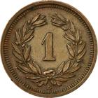 Switzerland / One Centime (Rappen) 1938 - reverse photo