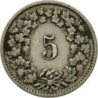 Switzerland / Five Centimes (Rappen) 1919 - reverse photo