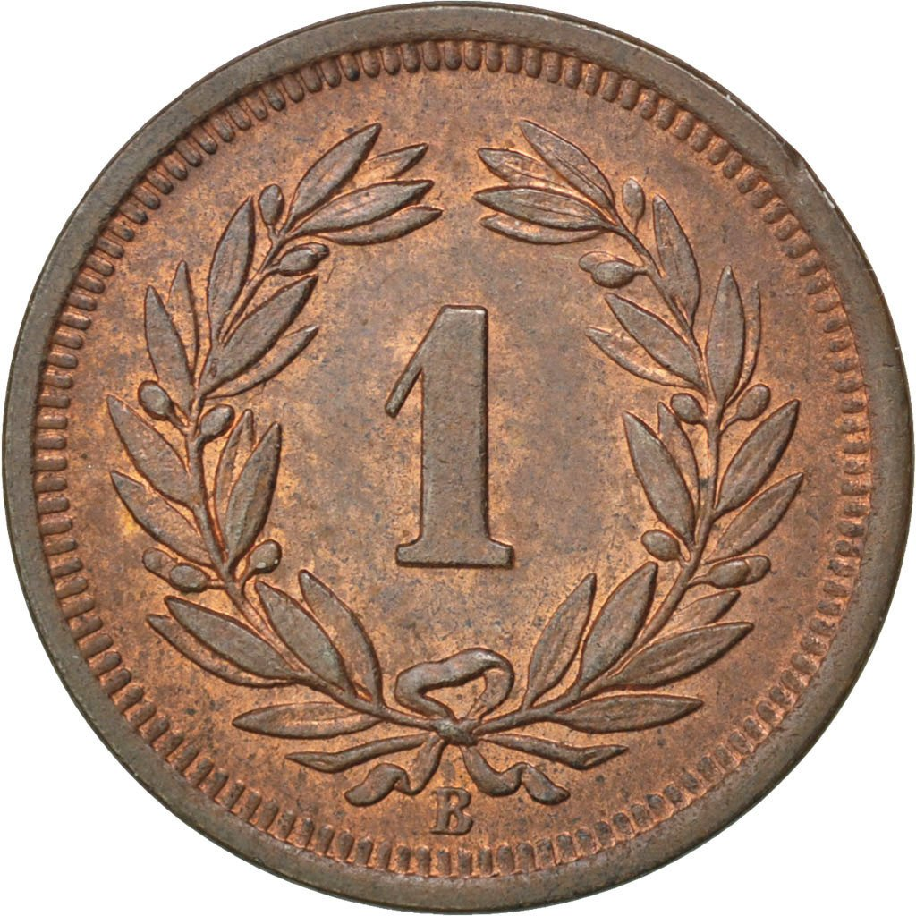 One Centime (Rappen) 1894: Photo Switzerland 1 Rappen 1894