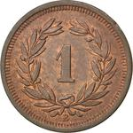 Switzerland / One Centime (Rappen) 1894 - reverse photo