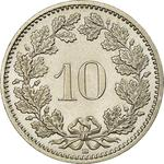Switzerland / Ten Centimes (Rappen) 2007 - reverse photo
