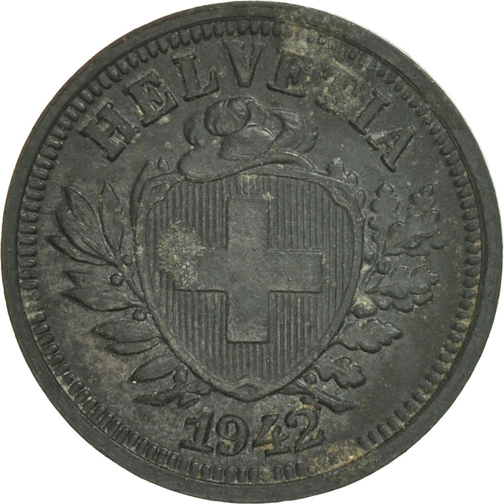 One Centime (Rappen) 1942: Photo Coin, Switzerland, Rappen 1942
