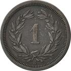 Switzerland / One Centime (Rappen) 1878 - reverse photo