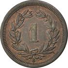 Switzerland / One Centime (Rappen) 1876 - reverse photo
