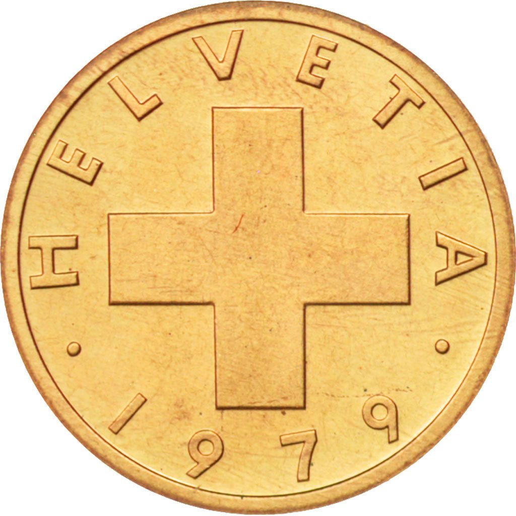 One Centime (Rappen) 1979: Photo Coin, Switzerland, Rappen 1979