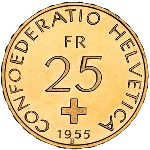 Switzerland / Twenty-five Francs 1955 - obverse photo
