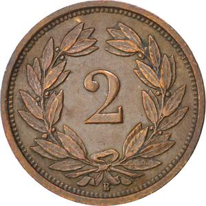 Switzerland / Two Centimes (Rappen) 1928 - reverse photo