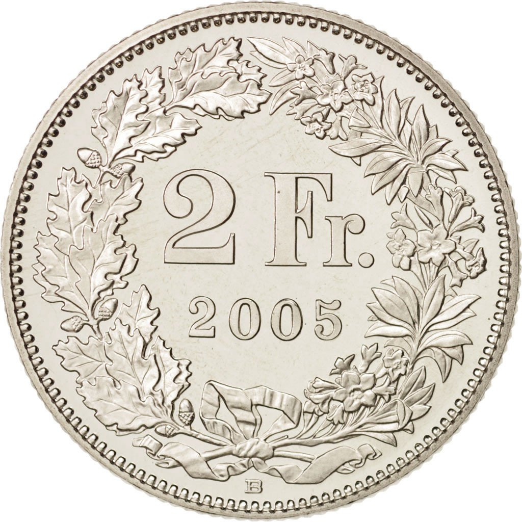 Two Francs, CuproNickel: Photo Coin, Switzerland, 2 Francs, 2005