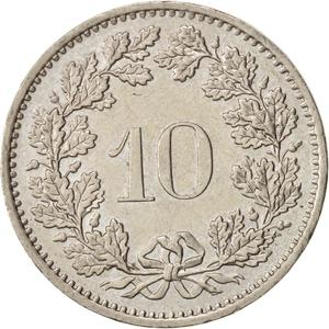 Switzerland / Ten Centimes (Rappen) 1984 - reverse photo