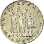 Switzerland / Five Francs 1941 Anniversary of Confederation - obverse photo