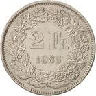 Switzerland / Two Francs 1985 - reverse photo